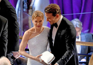 Friendly Exes! Renée Zellweger & Bradley Cooper Reunite at Oscars