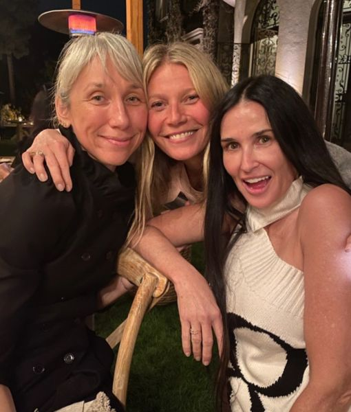 Pics! See the Famous Faces at Gwyneth Paltrow's No-Makeup Party
