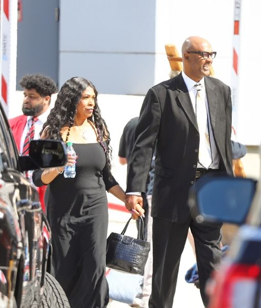 Kobe Bryant's Parents Joe & Pam Bryant Make Quiet Appearance at His…