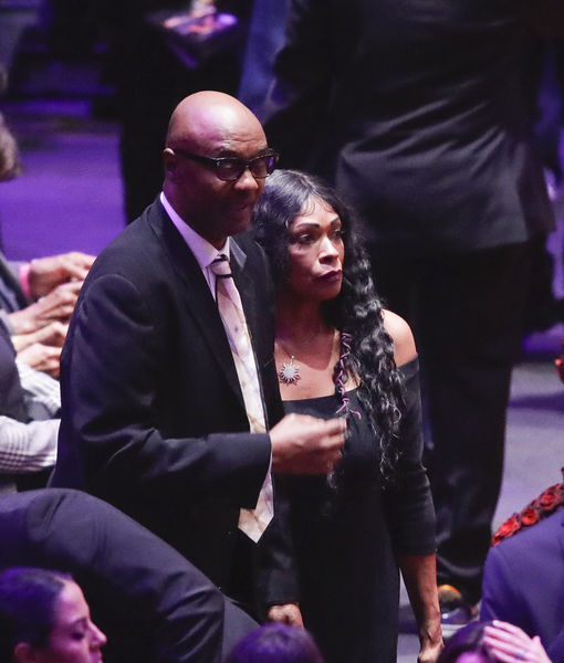 Kobe Bryant's Parents Joe & Pam Bryant Make Quiet Appearance at His Public Memorial