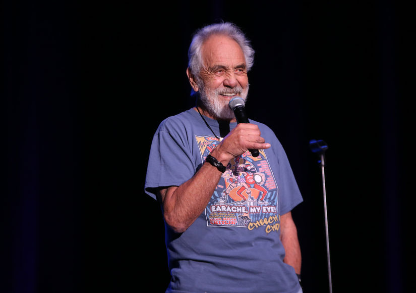 'Extra' Interviews Tommy Chong at Desert Oasis Agua Caliente Resort Casino Spa Rancho Mirage