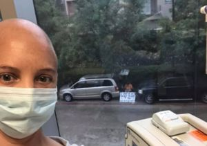 Husband Shows Wife with Cancer Love as She Undergoes Chemo Alone During COVID-19