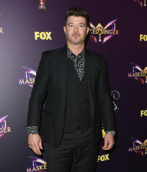 Spoiler Alert? Robin Thicke' Says 'Masked Singer' Will Make 'Front-Page…