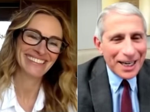 Watch Julia Roberts Interview with Dr. Anthony Fauci!