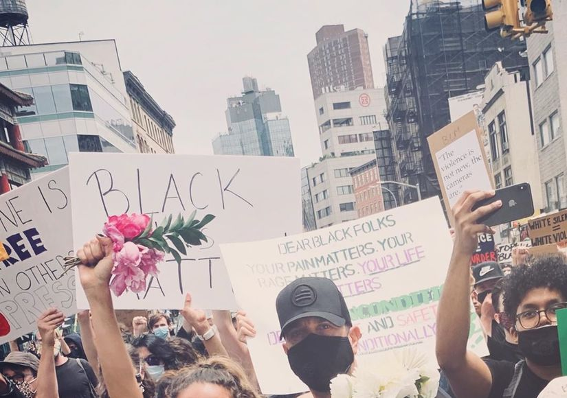 David Schwimmer & Zoe Buckman Reunite for Black Lives Matter