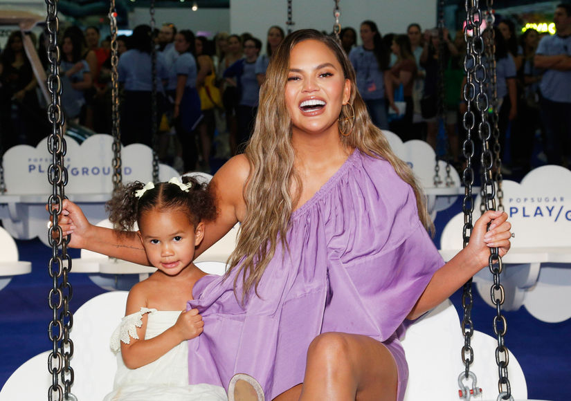 'Bye Boobies': Chrissy Teigen Shares Cute Card from Luna After Having Implants Removed