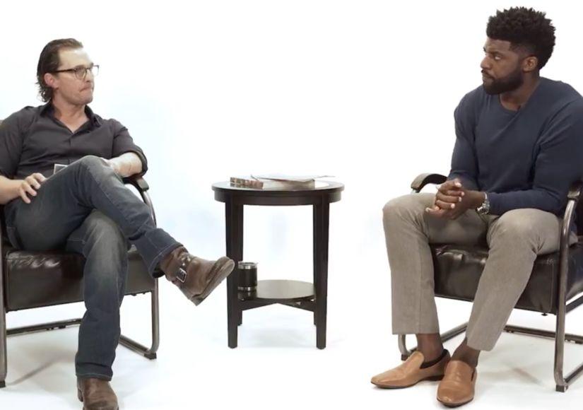 Emmanuel Acho & Matthew McConaughey End Conversation with Poignant Langston…