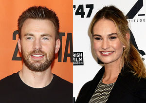 Pic! Chris Evans & Lily James Spotted Together in London