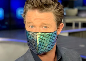 LOL! Jenn Lahmers Critiques Billy Bush's Mask Style