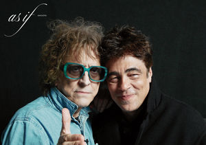 Benicio del Toro Models Mick Rock's Bowie Shoes
