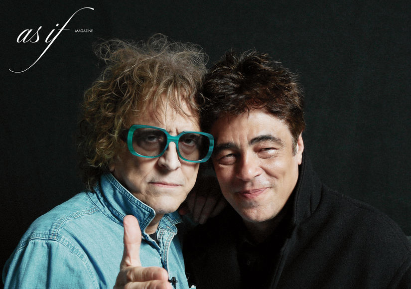 Benicio del Toro Models Mick Rock's Bowie Shoes