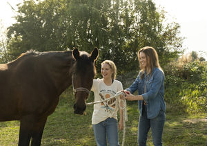 'Away' Stars Hilary Swank & Talitha Eliana Bateman Talk Life Under…