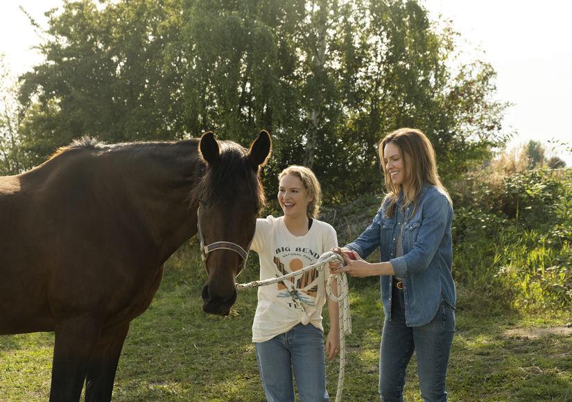 'Away' Stars Hilary Swank & Talitha Eliana Bateman Talk Life Under…