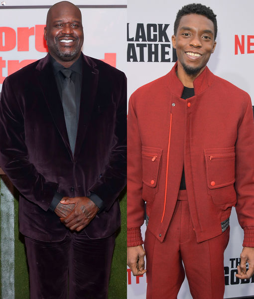 Shaq Reflects on Meeting Chadwick Boseman Last Year: 'He Will Definitely Be Missed'