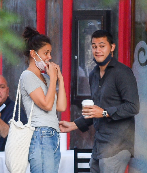 Did Katie Holmes' New Man Emilio Vitolo Jr. Split from His Fiancée After Photos Surfaced of Them Canoodling?