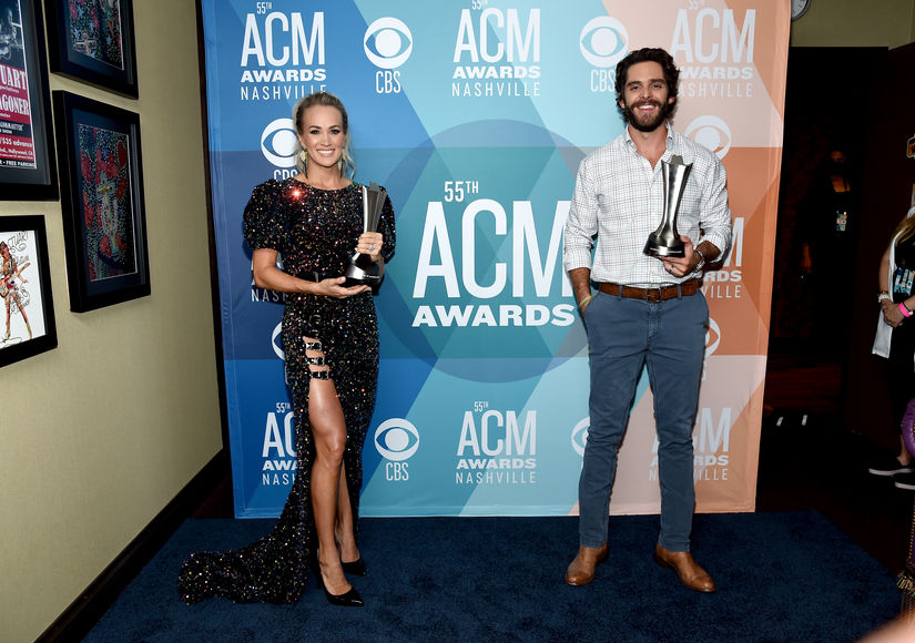 Carrie Underwood & Thomas Rhett Talk Entertainer of the Year Win at ACM…