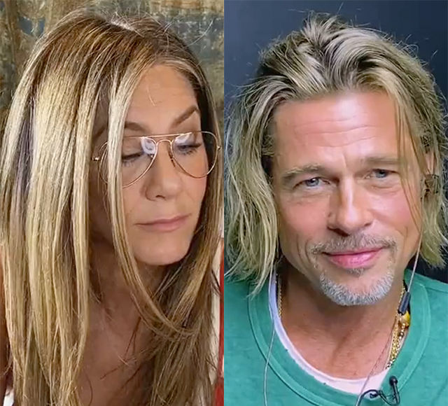 Brad Pitt & Jennifer Aniston's Flirty 'Fast Times' Reunion