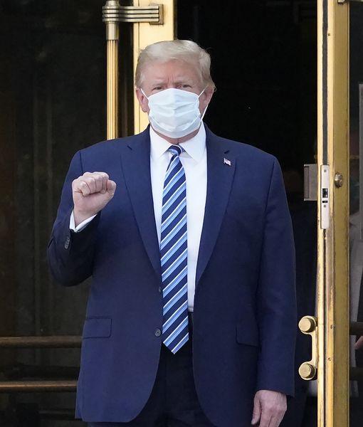 President Trump Departs Walter Reed Medical Center