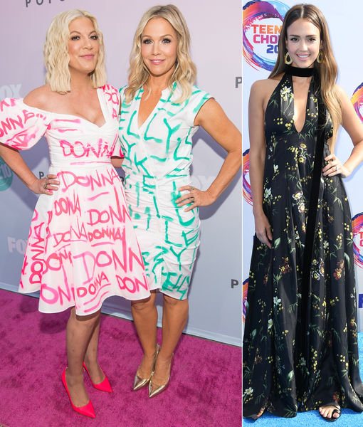 Tori Spelling & Jennie Garth React to Jessica Alba's Story About Eye…