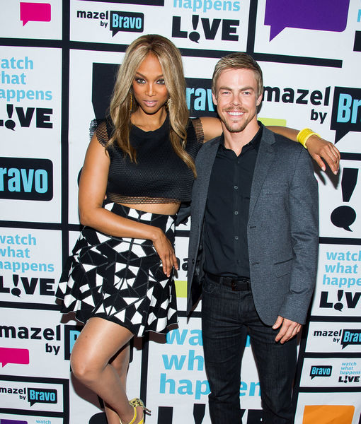 Derek Hough Sets the Record Straight on Tyra Banks' 'DWTS' Elimination Blunder
