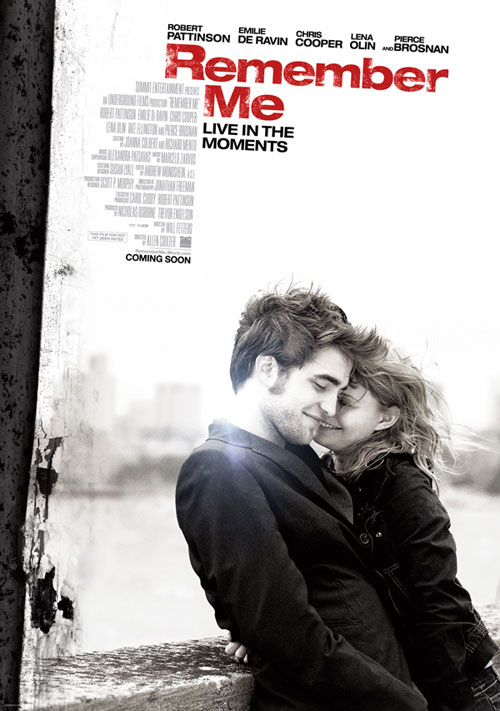 Poster released for Robert Pattinson's 'Remember Me'!