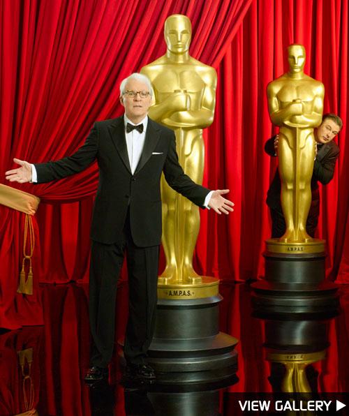 Photos of Alec Baldwin and Steve Martin for the Oscars