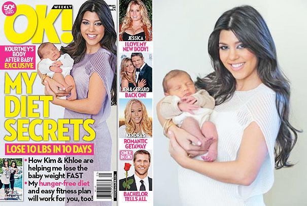 Kourtney Kardashian ok magazine