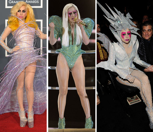 lady gaga outfits grammy awards