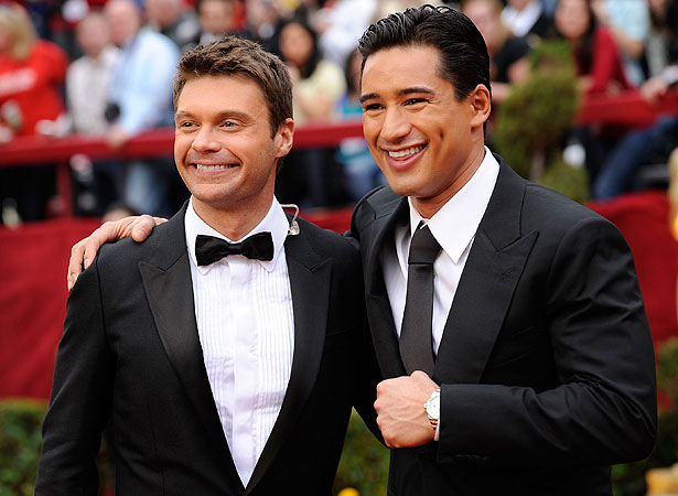 Ryan Seacrest and Mario Lopez
