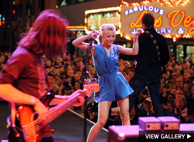 Julianne Hough performed during the Academy of Country Music all-star concert on in Las Vegas.