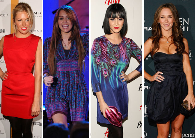Sienna Miller, Miley Cyrus, Katy Perry and Jennifer Love Hewitt showed off their love for fashion in New York City this week