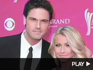 Julianne Hough and Chuck Wicks of Dancing with the Stars