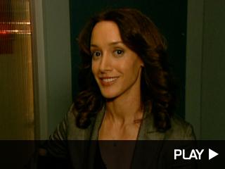 Jennifer Beals on the set of 'Lie To Me'