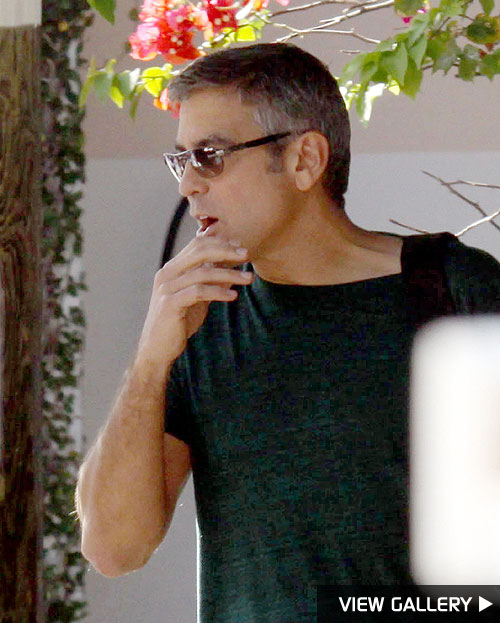 George Clooney parties in Miami