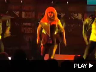 Lady Gaga performs in Boston
