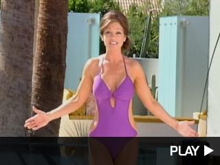 Valerie Bertinelli poses in a swimsuit.
