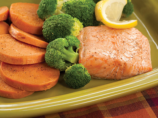 Honey-Roasted Salmon and Broccoli