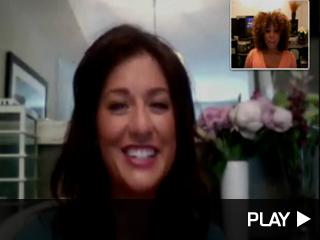 Jillian Harris videochatting with Tanika Ray