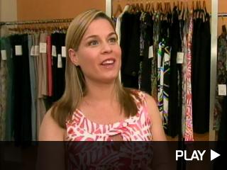 Cat Cora models Liz Lange