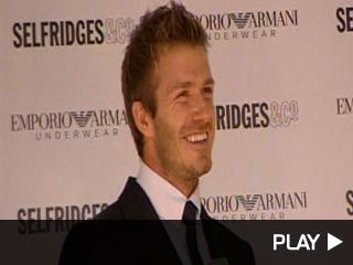 David Beckham unveiling