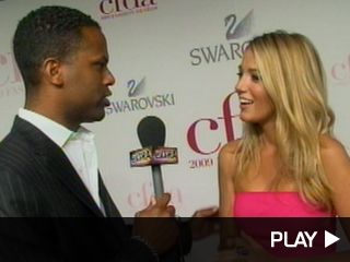 Blake Lively in hot pink Michael Kors dress