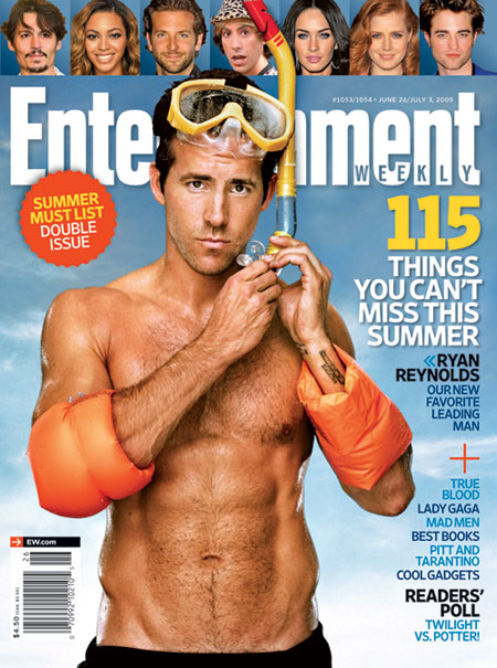 Ryan Reynolds on the cover of EW
