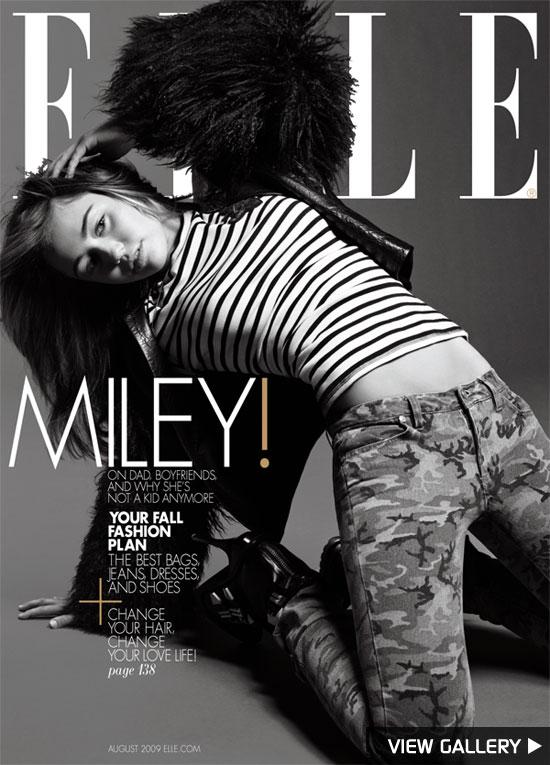 Miley Cyrus in Elle Magazine