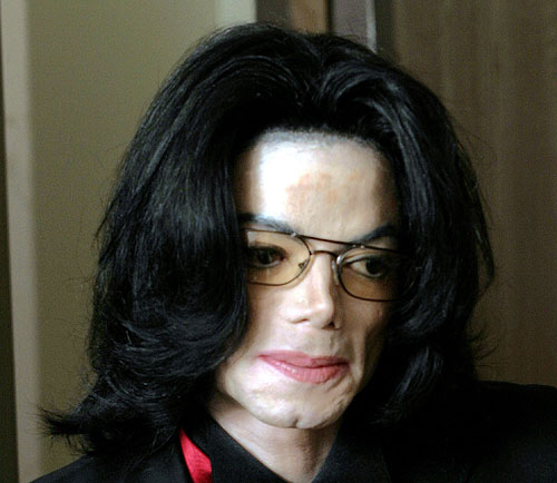 michael jackson's nose is missing