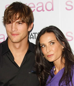 Ashton Kutcher and Demi Moore had a not-so-happy flying experience on Thursday when their plane was forced to make an emergency landing in Las Vegas