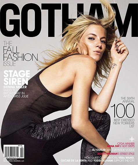 sienna miller in gotham magazine