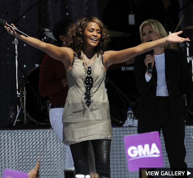 Whitney Houston performs on Good Morning America