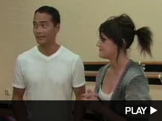 Mark Dacascos and Lacey Schwimmer of Dancing with the Stars