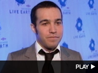 Pete Wentz at Live Earth Event