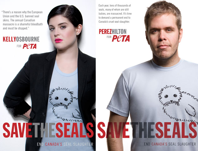 Kelly Osbourne and Perez Hilton Save Baby Seals